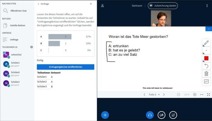 Umfragen in BigBlueButton